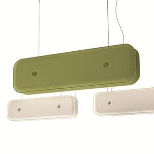 lampada a sospensione / moderna / in alluminio / in tessuto