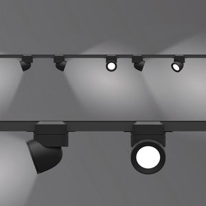 faretti a binario LED / tonda / in alluminio / contract