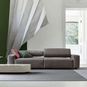 divano modulare / moderno / in pelle / 3 posti
