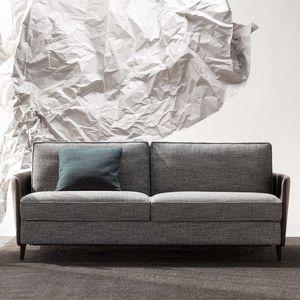 divano letto / moderno / in tessuto / in pelle