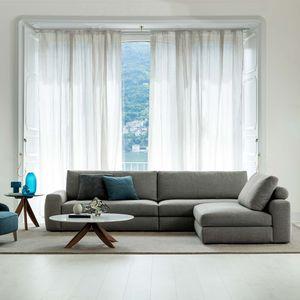 divano modulare / moderno / indoor / in pelle