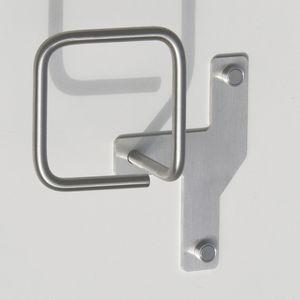 appendiabiti da parete moderno / in acciaio inox