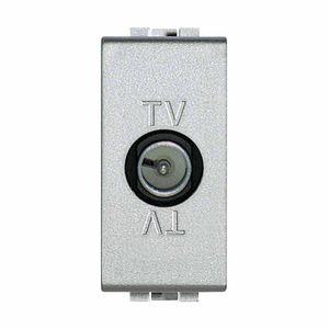 presa TV / da parete / in metallo / moderna