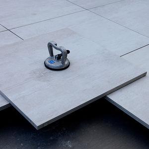 lastricato in gres porcellanato / liscio / da esterno / su supporto