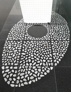 pavimento sopraelevato in solfato di calcio / in pietra naturale / ad alta resistenza / da interno