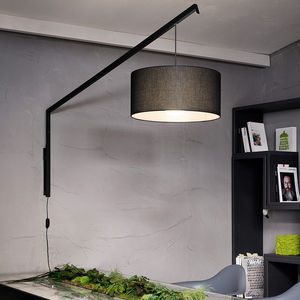 applique moderna / in metallo / in cotone / LED