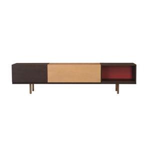 mobile porta TV moderno / modulare / in frassino