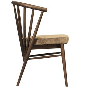 sedia classica / imbottita / con braccioli / in frassino