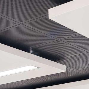 controsoffitto in alluminio / a quadrotte / in pannelli