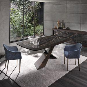 tavolo moderno / in quercia / in noce americano / in ceramica