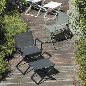 poggiapiedi moderno / in tessuto / in alluminio / da giardino