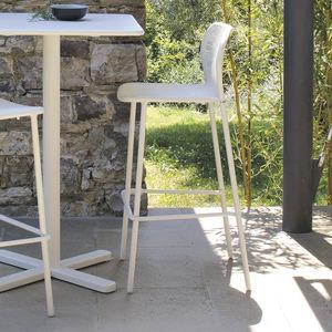 sedia alta moderna / con poggiapiedi / impilabile / ergonomica