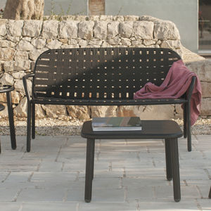 divano moderno / da esterno / in frassino / alluminio