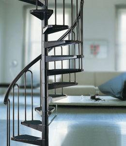 scala a chiocciola / con struttura in metallo / con gradini in metallo / senza alzata