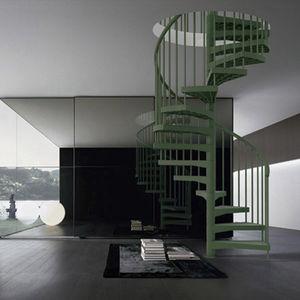 scala a chiocciola / con gradini in composito / senza alzata / moderna