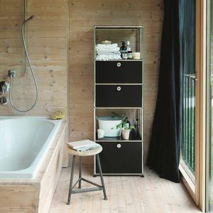 scaffale moderno / in MDF laccato / da bagno