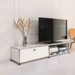 mobile porta TV moderno / in MDF laccato / in metallo