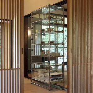 vetrina moderna / in vetro / in metallo