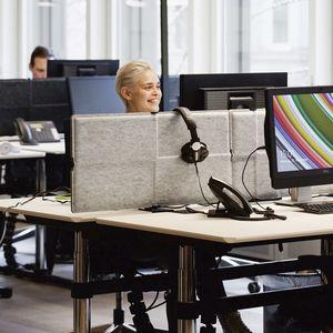 divisorio per ufficio su scrivania / in poliestere