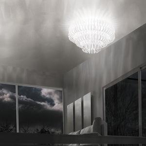 plafoniera moderna / in vetro / a incandescenza / da interno