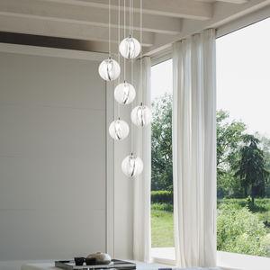 lampada a sospensione / moderna / in vetro / da interno