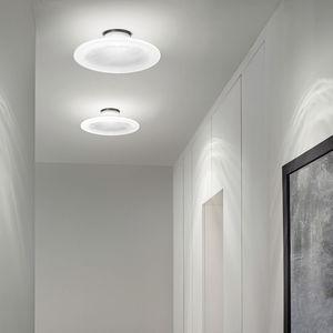 plafoniera moderna / tonda / in vetro / LED