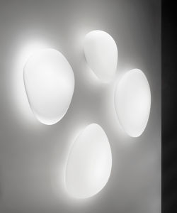 applique moderna / in vetro / LED / IP20