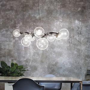 lampadario moderno / in vetro soffiato / LED