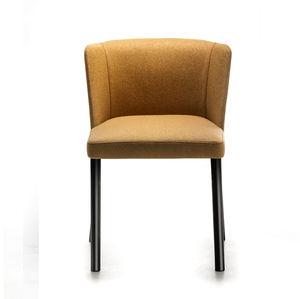 sedia moderna / imbottita / in acciaio verniciato / per uso contract