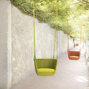 sedia sospesa moderno / imbottito / in acciaio inossidabile / da esterno