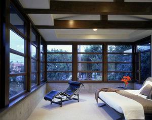 finestra basculante / in legno / a doppi vetri / a taglio termico