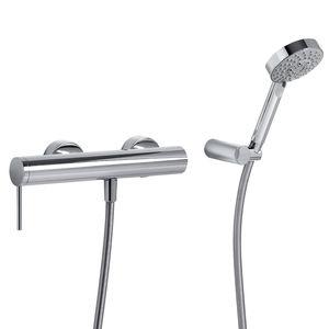 miscelatore da doccia / da parete / in metallo cromato / da bagno