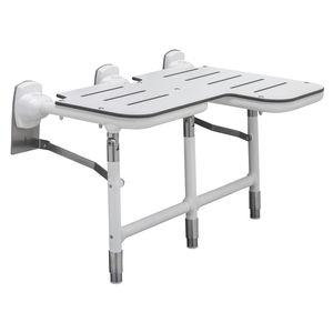 sedile per doccia ribaltabile / da parete / galvanizzato / in acciaio