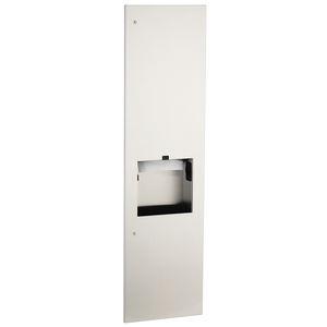 distributore di salviette da parete / da incasso / in acciaio inossidabile / con cestino