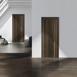 porta da interno / battente / impiallacciata in legno / filomuro