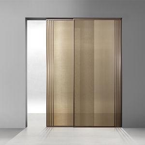 porta da interno / scorrevole / in alluminio / in vetro