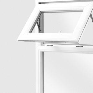 finestra fissa / in acciaio / in PVC / a doppi vetri
