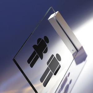 cartello segnaletico di orientamento / da parete / fisso / in alluminio