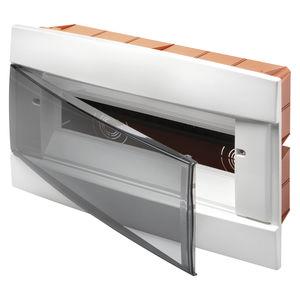 quadro elettrico da incasso / per uso residenziale / vuoto / con sportello trasparente