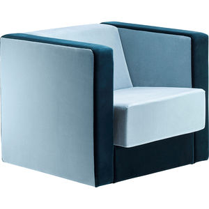 poltrona design Bauhaus / in tessuto / in pelle / girevole