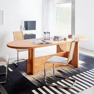 tavolo moderno / in quercia / in legno massiccio / in noce