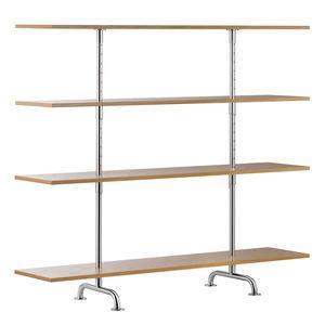 scaffale moderno / in legno laccato / in quercia / in frassino