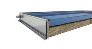 pannello termico piano / per scaldare l'acqua / con telaio in alluminio