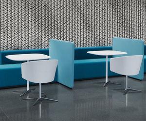 tavolo da bistrot moderno / in alluminio / in MDF / in vetro
