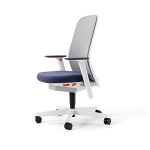 poltrona da ufficio moderna / in tessuto / in rete / con rotelle