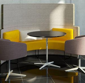 tavolo da bistrot moderno / in alluminio / in legno / tondo