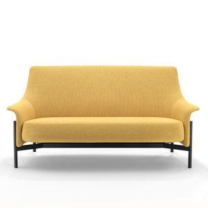divano moderno / in tessuto / in acciaio termolaccato / contract
