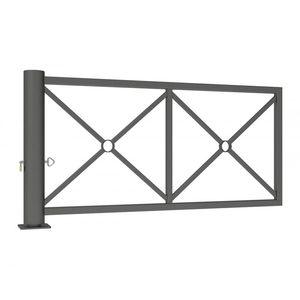 barriera di controllo accessi / a bilico / in acciaio / in acciaio galvanizzato