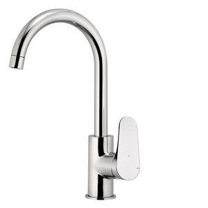 miscelatore in metallo cromato / da cucina / 1 foro / economizzatore d'acqua