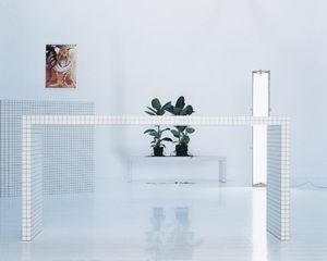 scrivania in laminato / in plastica / moderna